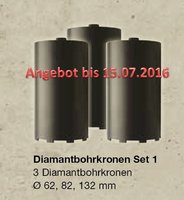 DUSS Diamantbohrkronen Set 1 -CC Set1
